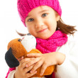 Girl with puppy — Stock Photo #5770283