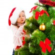 Decorating Christmas tree — Stock Photo #5770374