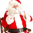 Santa Claus with coffe cup — Stock Photo #5770441