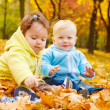 Autumn kids — Stock Photo
