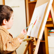 Kid painting — Stock Photo #5770635