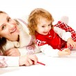 Stock Photo: Happy mother and toddler