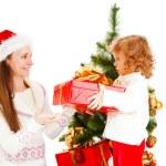 Christmas present for mom — Stock Photo