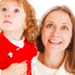 Little girl and mother - Stock Photo