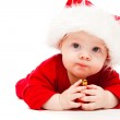 Kid with Christmas decoration — Stock Photo
