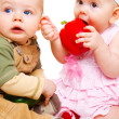 Two sweet babies — Stock Photo