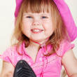 Girl in cowboy hat — Stock Photo