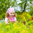 Stock Photo: Girl in garden