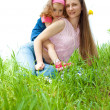 Stock Photo: Cheerful mother and daughter