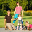 Royalty-Free Stock Photo: Family in roller skates