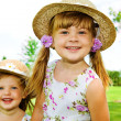 Preschool girls — Stock Photo