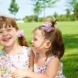 Cheerful little girls — Stock Photo