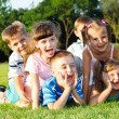 Preschoolers laughing — Stock Photo