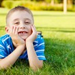 Boy laughing — Stock Photo
