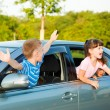 Preschoolers shouting — Stock Photo