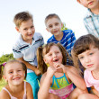 Preschool boys and girls — Stock Photo