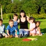 Kids and teacher — Stock Photo