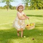 Kid in garden — Stock Photo #5775175