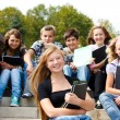 Teenagers with books — Stock Photo #5775201
