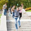 Stock Photo: Students running