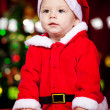 Portrait of a Christmas baby — Stock Photo
