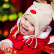 Cheerful Santa helper — Stockfoto