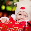 Baby in deer hat — Stock Photo #5775357
