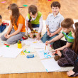 Kids painting — Stock Photo #5775450