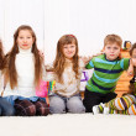 Children embracing — Stock Photo
