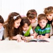 Kids with book - Stock Photo