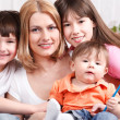 Mother and children - Stock Photo