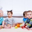 Four babies group — Stock Photo #5775709