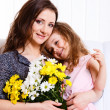 Stockfoto: Happy mother and daughter