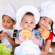 Kids eating sandwiches — Stock Photo #5775780