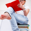 Gir on books — Stock Photo