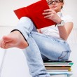 Gir on books — Stock Photo #5775812