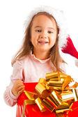 プレゼント ボックスを持つ少女 — ストック写真