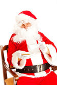 Coffee time for Santa Claus — Stock Photo