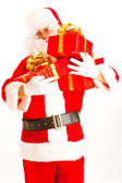 Santa with presents — Stock Photo