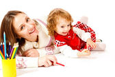 Happy mother and toddler — Stock Photo