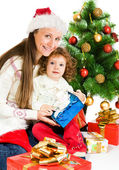 Beside Christmas tree — Stock Photo