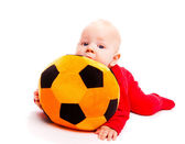 Soccer baby — Stock Photo