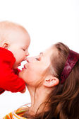 Portrat of mother and baby — Stock Photo