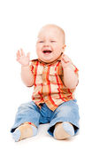 Laughing baby — Stock Photo