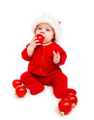 Baby Santa playing — Stock Photo