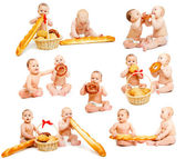 Bread babies collection — Stock Photo