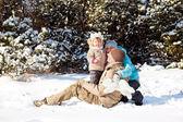Snow fun — Foto Stock