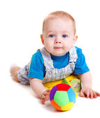 Infant with ball — Stock Photo