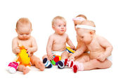 Babies playing — Stock Photo