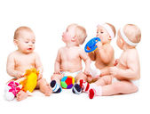Toddlers in diapers — Stock Photo